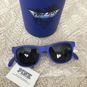 VS PINK Coozie cup and sunglasses set